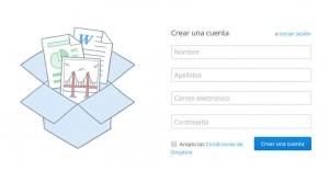 Crear cuenta Dropbox