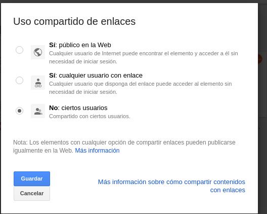 Enlace público Google Drive Enlace público Google Drive
