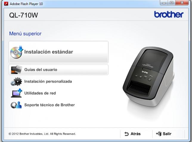 Instalador Borther QL-710W