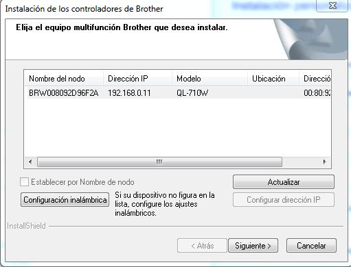 Instalador Borther QL-710W paso 14