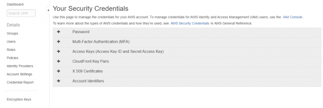 Security Credentials