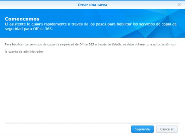 Tarea copia seguridad Office 365