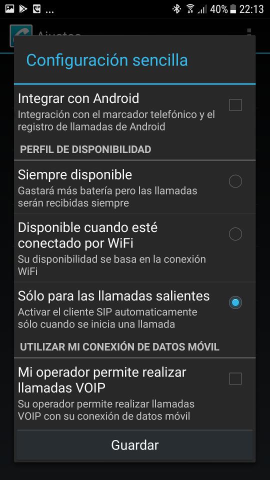 Configuración sencilla